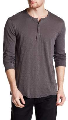 ATM Anthony Thomas Melillo Long Sleeve Henley Shirt