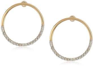 MATEO 14k Gold Small Half Moon Stud Earrings