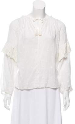 Ulla Johnson Long Sleeve Peasant Blouse