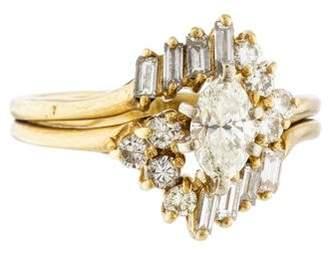 Ring 14K Marquise Diamond