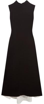 Marni - Open-back Crepe Midi Dress - Black
