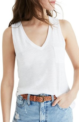 Women's Madewell Whisper Cotton V-Neck Tank $22.50 thestylecure.com
