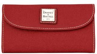 Dooney & Bourke Saffiano Continental Clutch Wallet - BURNT ORANGE - STYLE