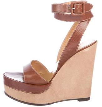 Hermes Leather Platform Wedges