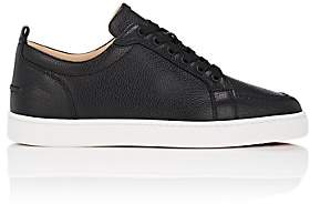 Christian Louboutin Men's Rantulow Flat Leather Sneakers - Black