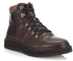 Brunello Cucinelli Round Toe Leather Hiking Boots