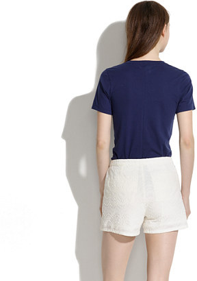 Madewell Thompson Shorts in Soft Embroidery