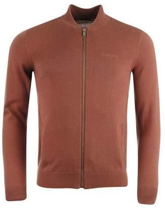 Pierre Cardin Mens 100% Cotton Full Zip Ribbed Collar Bomber Knitwear Cardigan