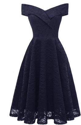 BEJG Women Floral Lace Bridesmaid Party Short Prom Homecoming Cocktail Formal Dress