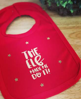 Baby Yorke Designs The Elf Made Me Do It Christmas Lunch Bib