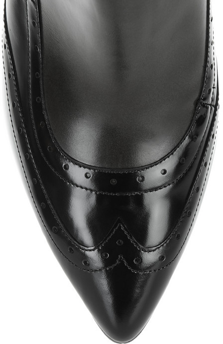 Jason Wu Nico two-tone glossed-leather ankle boots