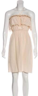 Rebecca Taylor Strapless Silk Dress