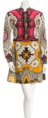 Valentino Silk Crepe De Chine Print Dress