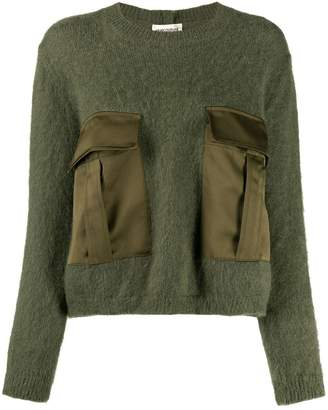 Semi-Couture Semicouture relaxed-fit flap-pocket jumper