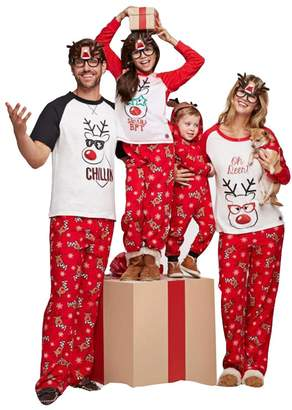 Billila Christmas Holiday Family Matching Sleepwear Pajamas Set (, XL)