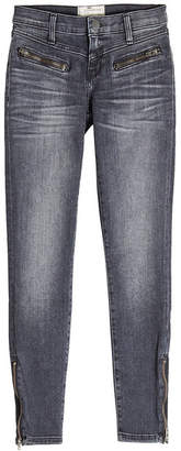 Current/Elliott Skinny Jeans with Zipped Ankles