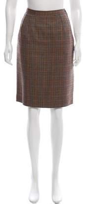 Valentino Houndstooth Knit Skirt