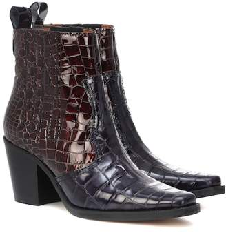 Ganni Callie leather cowboy boots