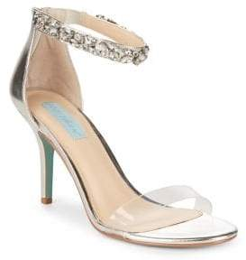 Betsey Johnson Embellished Ankle-Strap Pumps