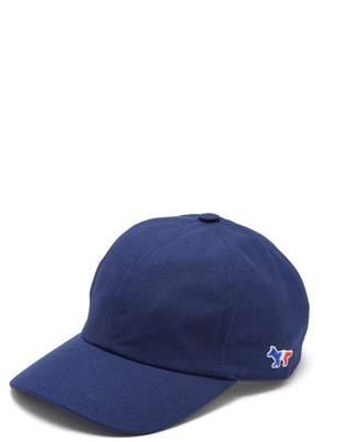MAISON KITSUNÉ Logo Cotton Blend Canvas Cap - Mens - Navy