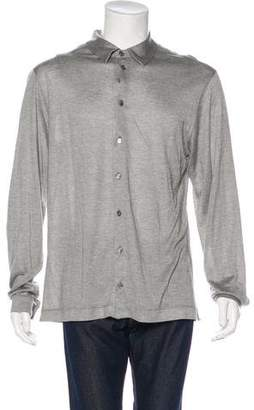 Giorgio Armani Silk-Blend Button-Up Shirt w/ Tags