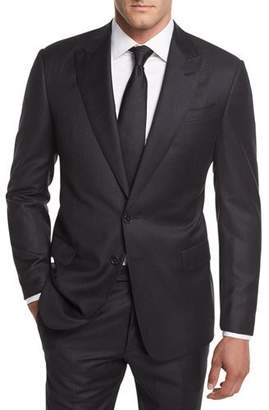 Giorgio Armani Flannel Stripe Wool Two-Piece Suit