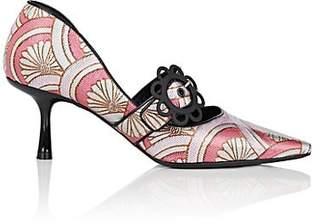Fabrizio Viti Women's Daisy-Buckle Floral Jacquard Pumps - Pink