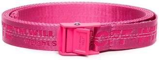 Off-White pink Mini industrial logo belt