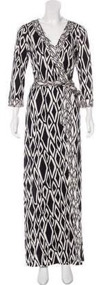 Diane von Furstenberg Banded Julian Long Silk Dress