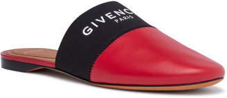 Givenchy Bedford flat dark red mules
