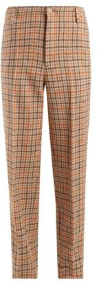 Golden Goose Checked Wool Trousers - Womens - Orange Multi
