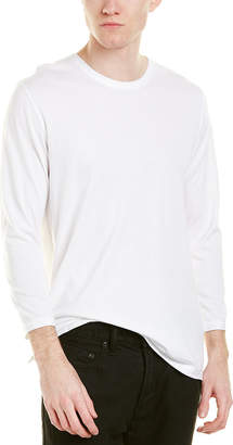 Vince 3/4-Sleeve Reverse Hem T-Shirt
