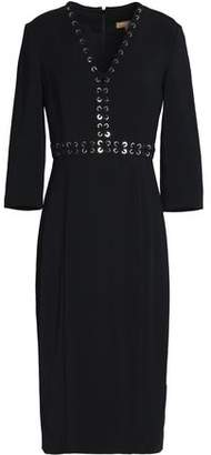 Michael Kors Lace-Up Crepe Dress
