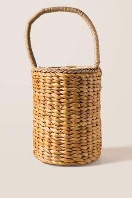 Uma Woven Straw Basket Tote - Natural