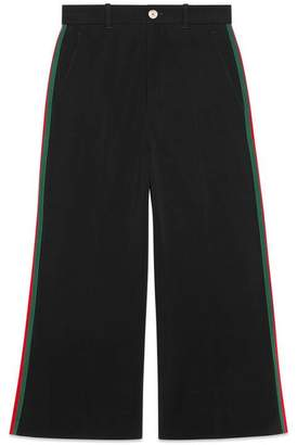 Gucci Viscose culotte trousers with Web