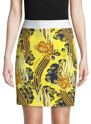 Roberto Cavalli Printed Pencil Skirt