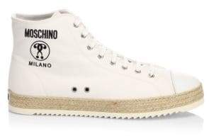 Moschino High-Top Leather Sneaker