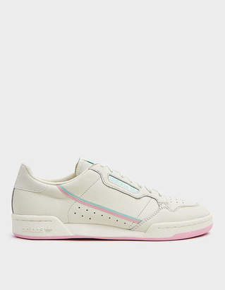 adidas Continental 80 Sneaker in Off White/True Pink/Clear Mint