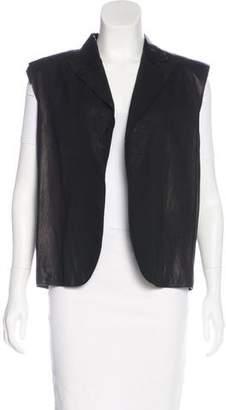 Bottega Veneta Leather Open-Front Vest