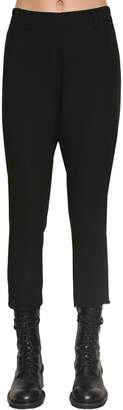 Ann Demeulemeester CROPPED WOOL CANVAS PANTS