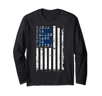 Flag American Honor Long Slee For Men Or Women Patriotic Tee