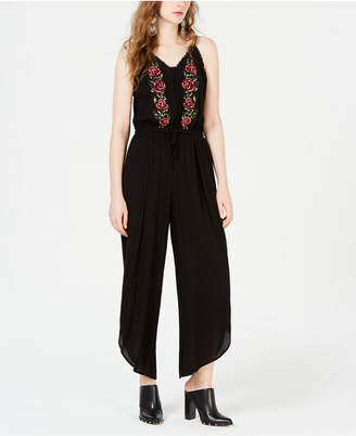 American Rag Juniors' Embroidered Cropped Jumpsuit