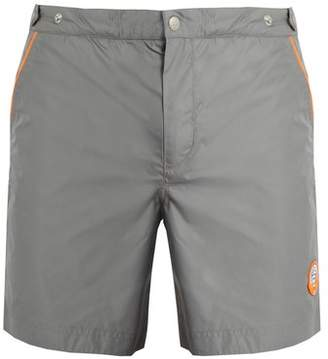 Robinson Les Bains - Oxford Long Swim Shorts - Mens - Grey