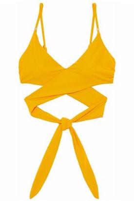 Stella McCartney Ruched Wrap Bikini Top
