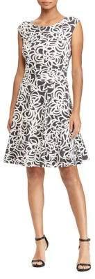 Lauren Ralph Lauren Petite Floral Cap-Sleeve Fit-&-Flare Dress