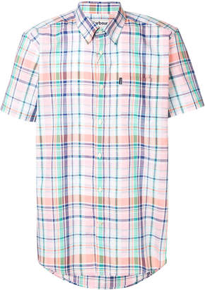 Barbour plaid short sleeved shirt