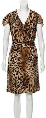 49851780c0 Saks Fifth Avenue Printed Cap Sleeve Knee-Length Dress