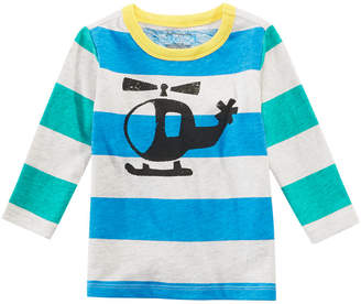 First Impressions Toddler Boys Helicopter Graphic Striped Cotton T-Shirt