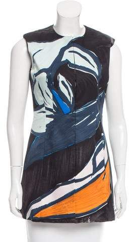 Christian Dior Abstract Print Silk Top w/ Tags