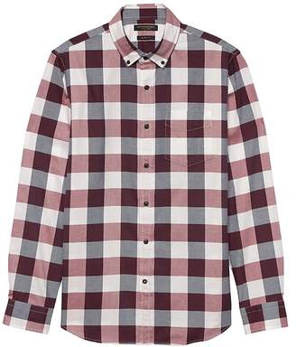 Banana Republic Grant Slim-Fit Luxe Flannel Buffalo Check Shirt